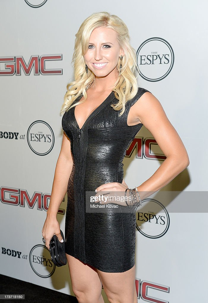 Pro Drag racer <a gi-track='captionPersonalityLinkClicked' href=/galleries/search?phrase=Courtney+Force&family=editorial&specificpeople=8957288 ng-click='$event.stopPropagation()'>Courtney Force</a> attends ESPN The Magazine 5th annual 'Body Issue' party at Lure on July 16, 2013 in Hollywood, California.