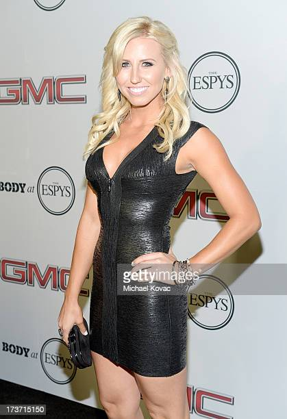 Pro Drag racer Courtney Force attends ESPN The Magazine 5th annual 'Body Issue' party at Lure on July 16 2013 in Hollywood California