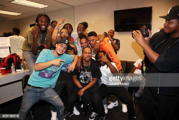 Pro Era backstage at Barclays Center on August 8 2017 in New York City