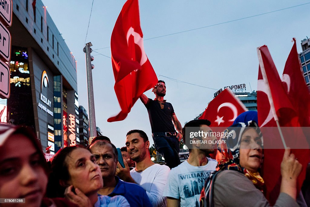 Image result for ERDOGAN SUPPORTERS ON STREETS JULY AFTER COUP