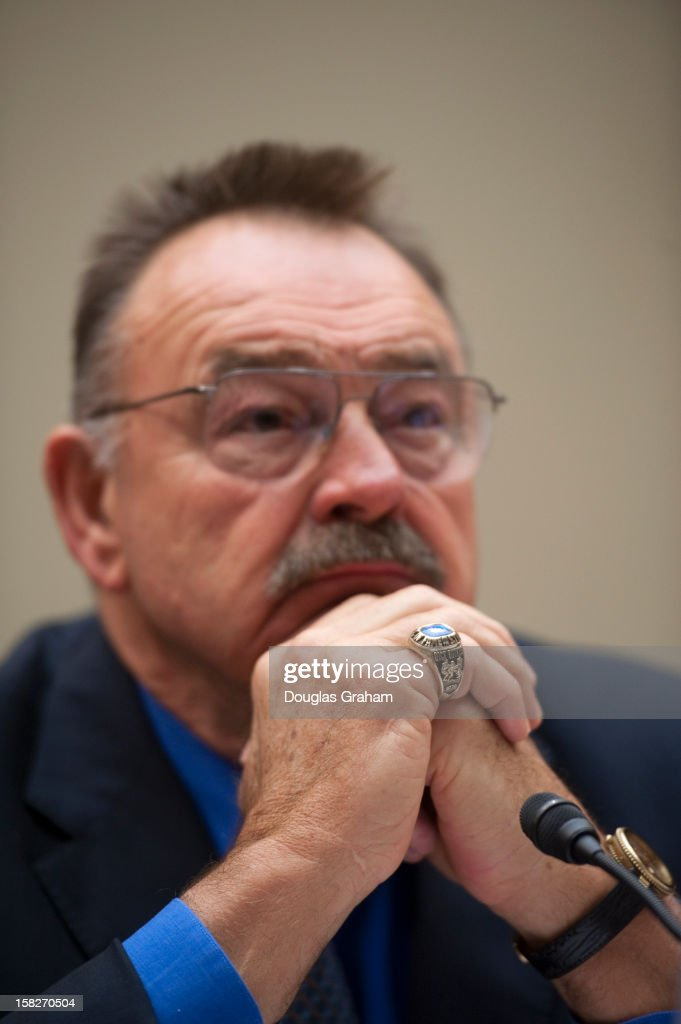 Pro Football Hall of Famer Dick Butkus during the full committee hearing on 'HGH (Human Growth Hormone) testing in the NFL (National Football League)on December 12, 2012.