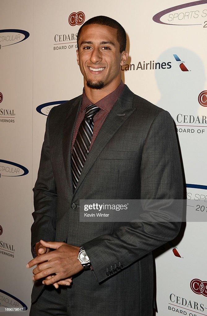 Pro football player and honoree <a gi-track='captionPersonalityLinkClicked' href=/galleries/search?phrase=Colin+Kaepernick&family=editorial&specificpeople=5525694 ng-click='$event.stopPropagation()'>Colin Kaepernick</a> attends the 28th Anniversary Sports Spectacular Gala at the Hyatt Regency Century Plaza on May 19, 2013 in Century City, California.