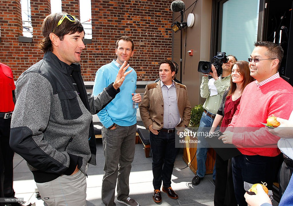 Pro Golfer <a gi-track='captionPersonalityLinkClicked' href=/galleries/search?phrase=Bubba+Watson&family=editorial&specificpeople=597658 ng-click='$event.stopPropagation()'>Bubba Watson</a> attends the Oakley to unviel his full Master's scripting at Gansevoort Park Avenue Hotel on April 2, 2013 in New York City.