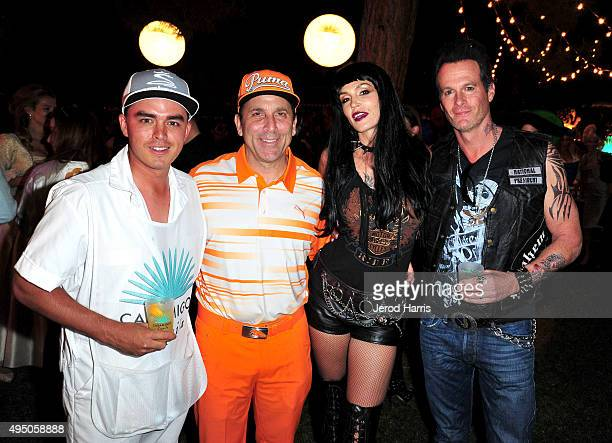 Pro golfer Rickie Fowler Disocvery Land Company CEO Mike Meldman model Cindy Crawford and Casamigos cofounder Rande Gerber attend the Casamigos...