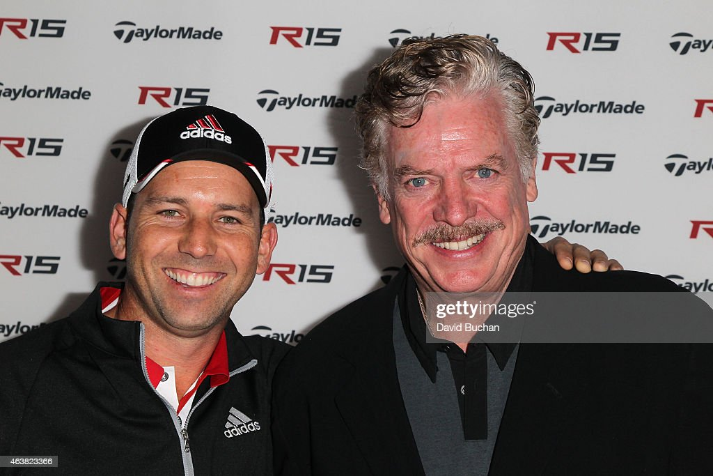 Pro golfer Sergio Garcia and actor Christopher McDonald attends the Northern Trust Open TaylorMade Golf first ever drivein movie on the driving range...