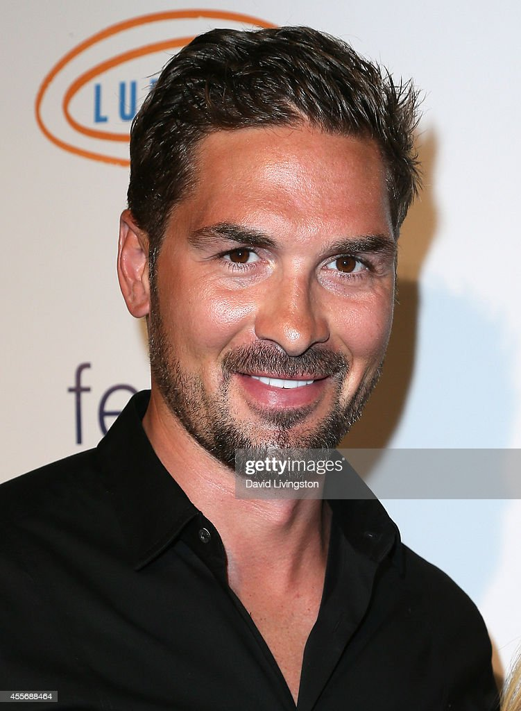 Pro hockey player Sheldon Souray attends the Stars Get Lucky For Lupus 6th Annual Poker Tournament at Avalon on September 18 2014 in Hollywood...