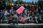 TOPSHOT Pro Kurdish supporters gather during a rally against military coup and the state of emergency one week after a failed coup at the Gazi...