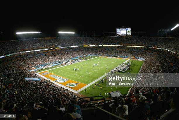 Pro Player Stadium is shown during the Philadelphia Eagles versus Miami Dolphins game December 15 2003 in Miami Florida