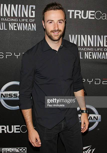Pro Race Car Driver James Hinchcliffe attends the screening of 'WINNING The Racing Life Of Paul Newman' at the El Capitan Theatre on April 16 2015 in...