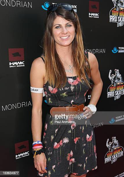 Pro Skateboarder LynZ Adams HawkinsPastrana attends the 9th annual Stand Up For Skateparks benefit at Ron Burkle's Green Acres Estate on October 7...