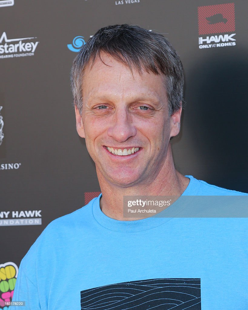 Pro Skateboarder <a gi-track='captionPersonalityLinkClicked' href=/galleries/search?phrase=Tony+Hawk+-+Skateboarder&family=editorial&specificpeople=201818 ng-click='$event.stopPropagation()'>Tony Hawk</a> attends the 10th Annual Stand Up For Skateparks benefiting the <a gi-track='captionPersonalityLinkClicked' href=/galleries/search?phrase=Tony+Hawk+-+Skateboarder&family=editorial&specificpeople=201818 ng-click='$event.stopPropagation()'>Tony Hawk</a> Foundation on October 5, 2013 in Beverly Hills, California.