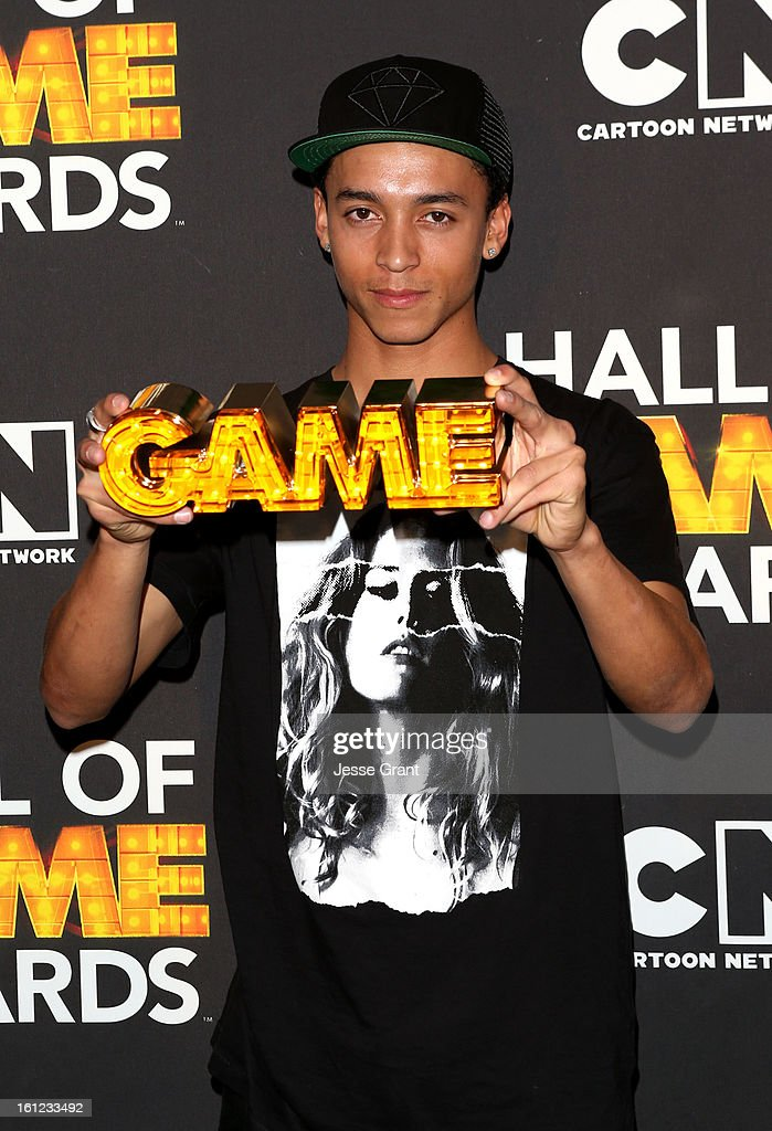 Pro skater Nyjah Huston attends the Third Annual Hall of Game Awards hosted by Cartoon Network at Barker Hangar on February 9, 2013 in Santa Monica, California. 23270_004_JG_0049.JPG
