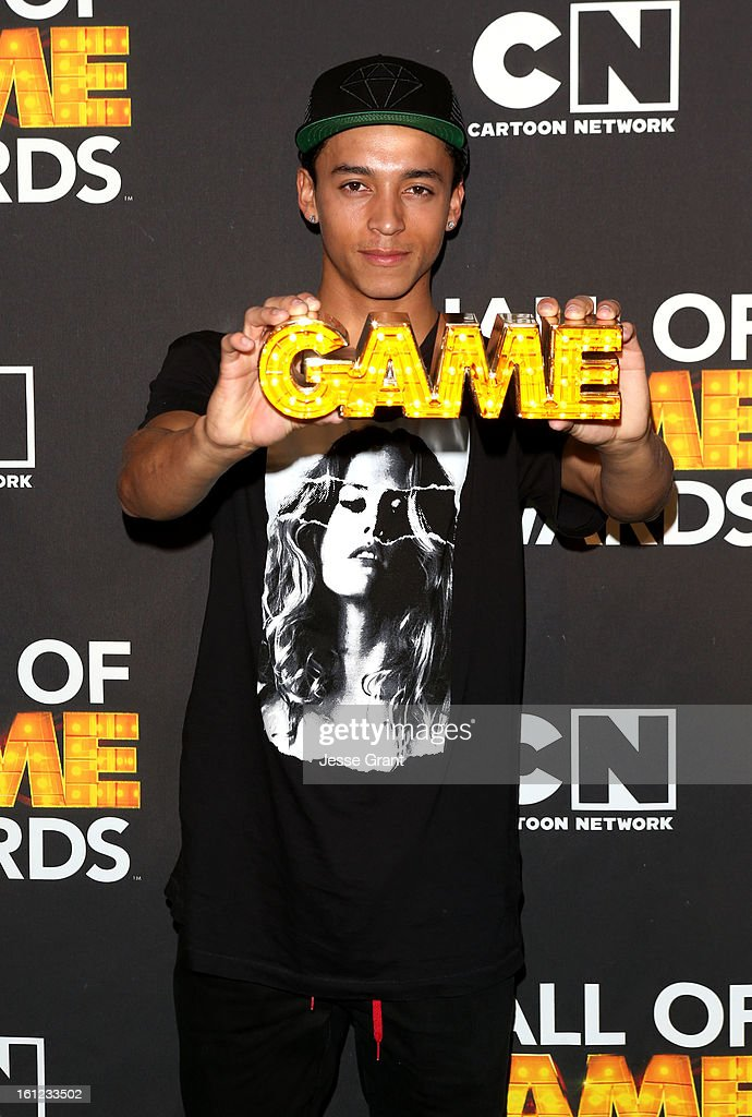 Pro skater Nyjah Huston attends the Third Annual Hall of Game Awards hosted by Cartoon Network at Barker Hangar on February 9, 2013 in Santa Monica, California. 23270_004_JG_0070.JPG