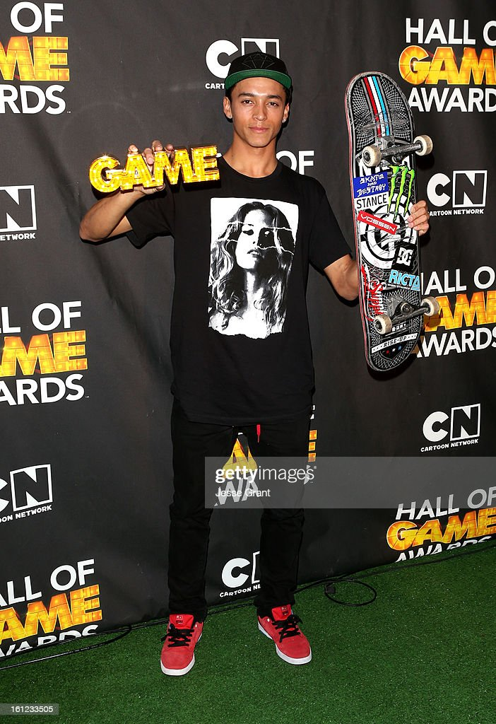 Pro skater Nyjah Huston attends the Third Annual Hall of Game Awards hosted by Cartoon Network at Barker Hangar on February 9, 2013 in Santa Monica, California. 23270_004_JG_0093.JPG