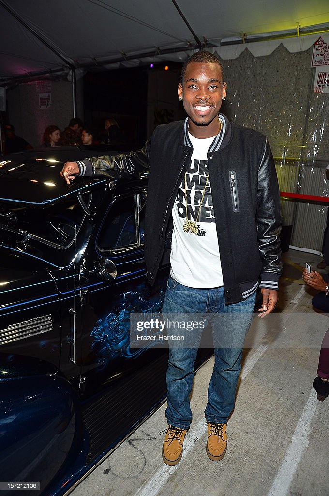 Pro Skater Theotis Beasley attends SA Studios and Mister Cartoon VIP Screening and After Party of Warner Brothers Pictures 'Gangster Squad' at SA Studios on November 29, 2012 in Los Angeles, California.
