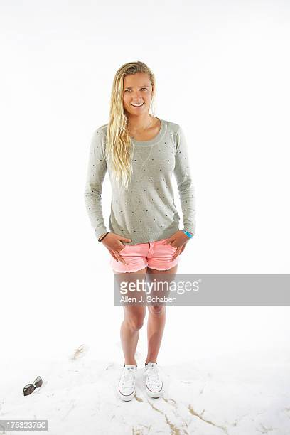 Pro surfer Lakey Peterson is photographed for Los Angeles Times on July 26 2013 in Huntington Beach California PUBLISHED IMAGE CREDIT MUST READ Allen...