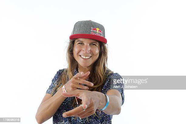 Pro surfer Sofia Mulanovich is photographed for Los Angeles Times on July 26 2013 in Huntington Beach California PUBLISHED IMAGE CREDIT MUST READ...