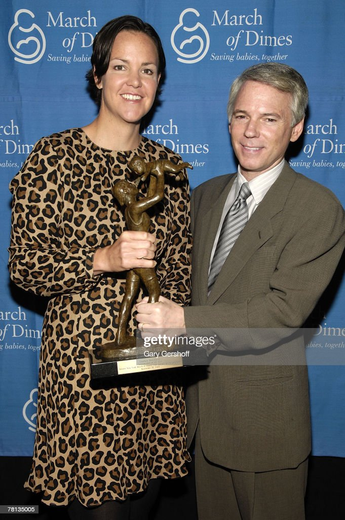 Pro tennis player and recipient of The Sportswoman of the Year Award Lindsay Davenport and luncheon chair Sean McManus attend the March of Dimes 24th...
