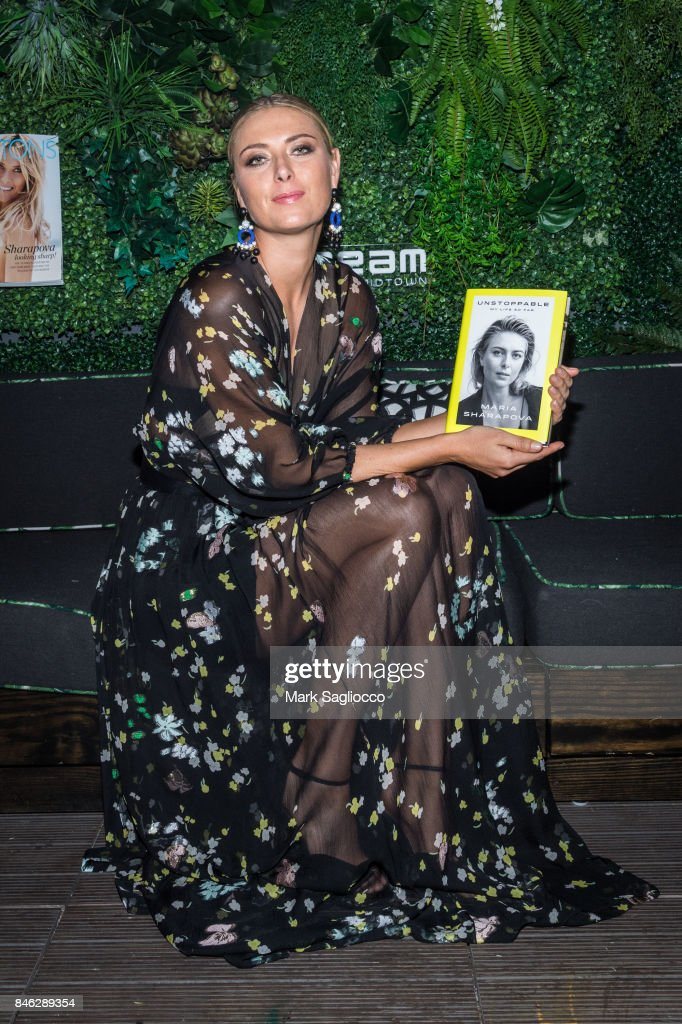 Pro Tennis Player Maria Sharapova attends Hamptons Magazine's Celebration with Cover Star Maria Sharapova at PHD Terrace at Dream Midtown on September 12, 2017 in New York City.