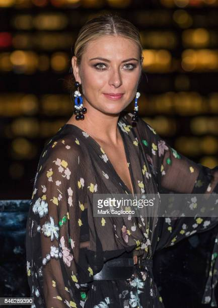 Pro Tennis Player Maria Sharapova attends Hamptons Magazine's Celebration with Cover Star Maria Sharapova at PHD Terrace at Dream Midtown on...