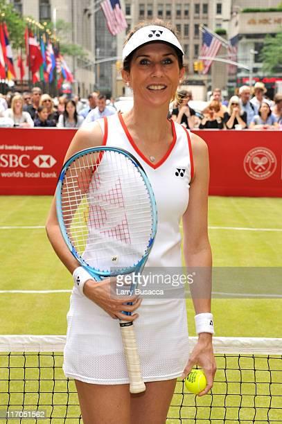 Pro Tennis Player Monica Seles attends HSBC Bank presents Wimbledon 2011 At Rockefeller Center at Rockefeller Center on June 20 2011 in New York City