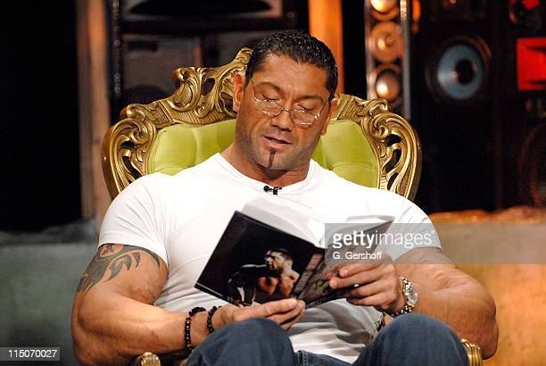 WWE Pro Wrestler Dave Batista visits fuse's 'The Sauce' at fuse studios on October 29 2007 in New York City