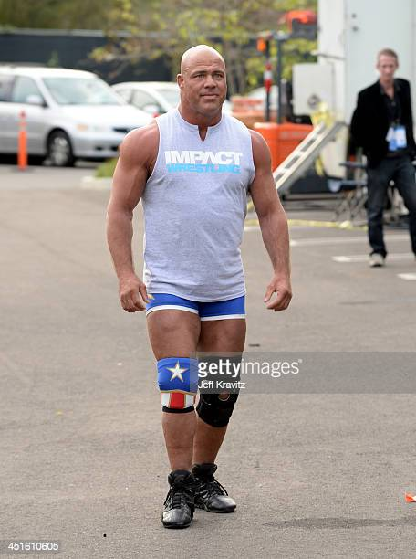 Pro Wrestler Kurt Angle during One Direction celebrates 1D Day at YouTube Space LA a 7hour livestream event broadcast exclusively on YouTube and...