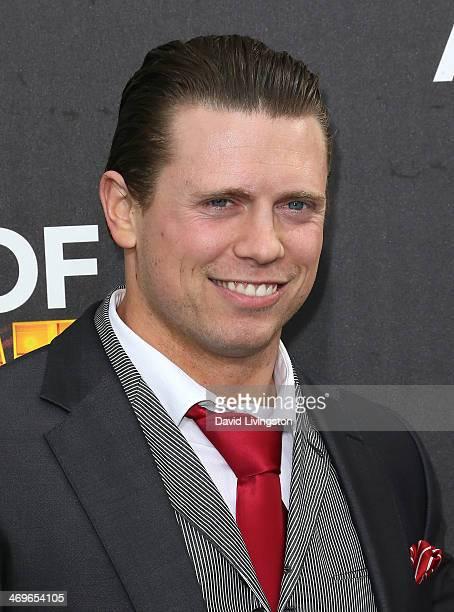 Pro wrestler The Miz attends Cartoon Network's Hall of Game Awards at Barker Hangar on February 15 2014 in Santa Monica California