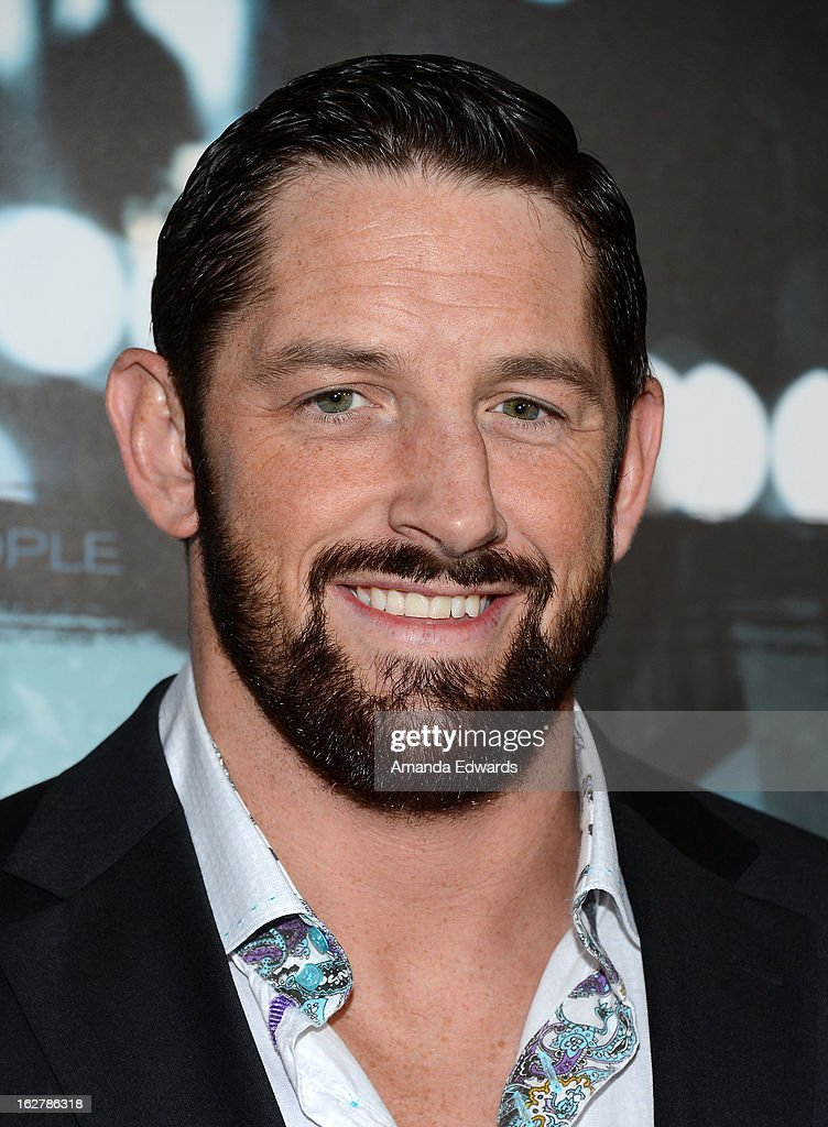 Pro wrestler <a gi-track='captionPersonalityLinkClicked' href=/galleries/search?phrase=Wade+Barrett&family=editorial&specificpeople=2196134 ng-click='$event.stopPropagation()'>Wade Barrett</a> arrives at the Los Angeles Premiere of 'Dead Man Down' at ArcLight Hollywood on February 26, 2013 in Hollywood, California.