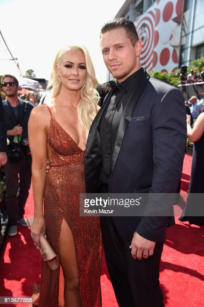 Pro wrestlers Maryse Ouellet and Michael Mizanin attend The 2017 ESPYS at Microsoft Theater on July 12 2017 in Los Angeles California