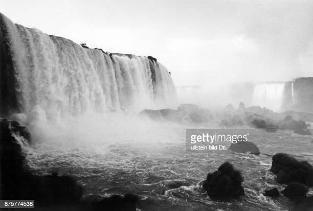 Probably the Guaira Falls waterfalls on the Parana River along the border between Brazil and Paraguay