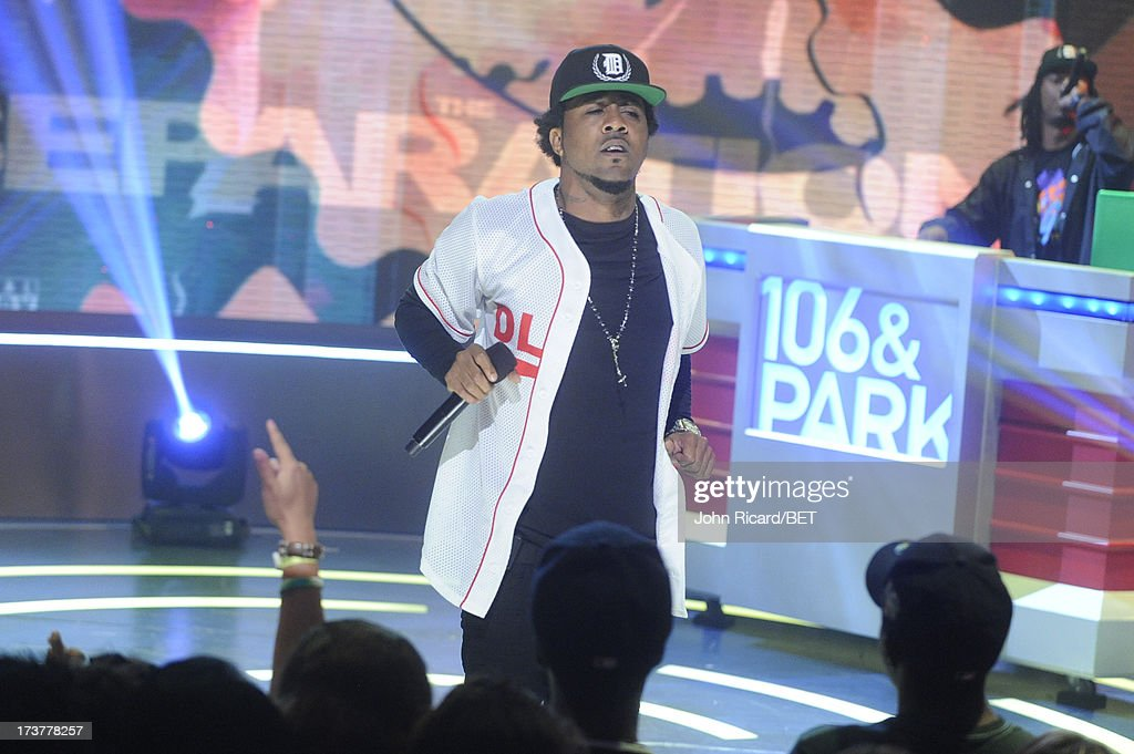 Problem visits BET's 106 & Park at BET Studios on July 17, 2013 in New York City.