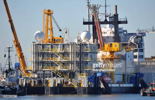 Problems on the Arctic Challenger shown on Septmber 17 at the Port of Bellingham in Washington has caused Shell to give up for the year on drilling...