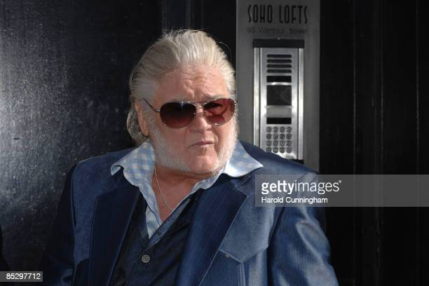 J Proby attends the unveiling of the blue plaque commemorating the late Keith Moon drummer of The Who at 90 Wardour Street on March 8 2009 in London...