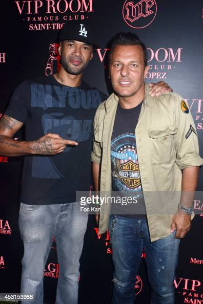 Probz and Jean Roch Pedri attend the MR Probz Concert At The VIP Room Saint Tropez 2014 in Saint Tropez France