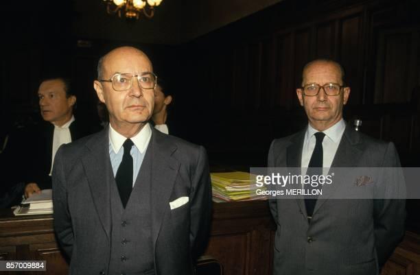 Proces des joailliers Pierre et Jacques Chaumet le 30 septembre 1991 a Paris France
