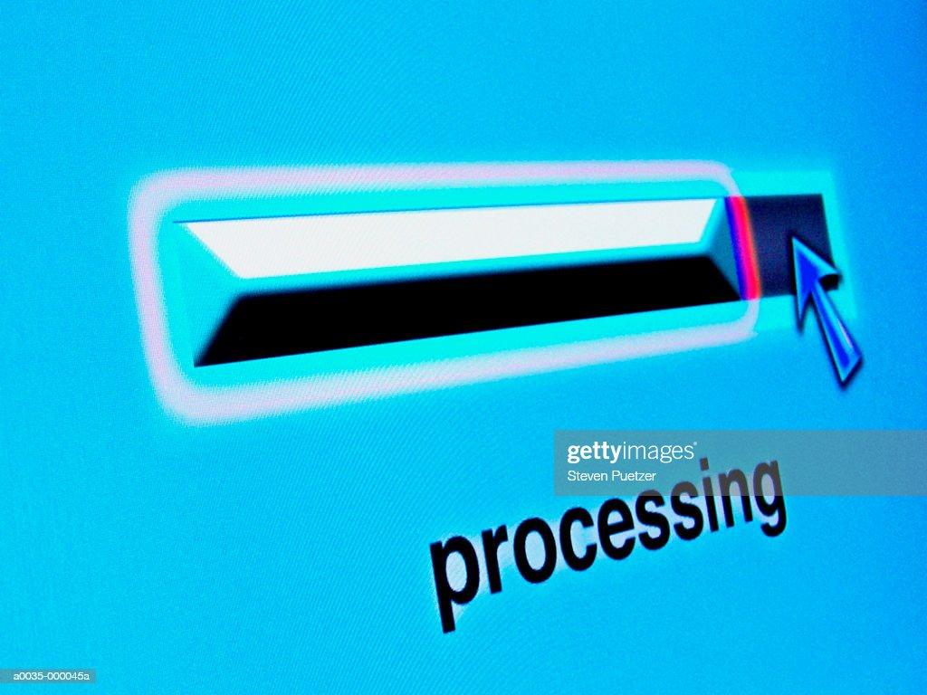 Processing Icon : Stock Photo