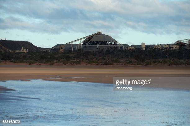 A processing plant stands beyond Lake Lefroy at the St Ives Gold Mine operated by Gold Fields Ltd in Kambalda Australia on Wednesday Aug 9 2017...