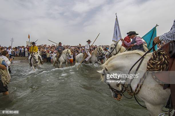 Procession during annual gipsy pilgrimage