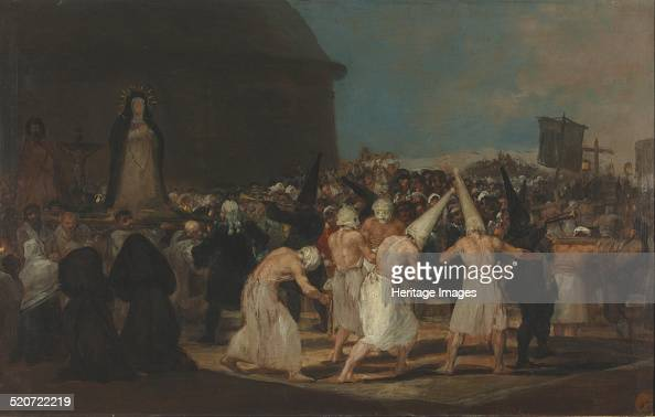 A Procession of Flagellants Found in the collection of Real Academia de Bellas Artes de San Fernando Madrid