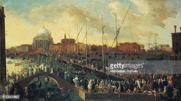 'Procession of the Feast of the Redeemer by Joseph Heintz the Younger 17th Century oil on canvas 115 x 205 cm Italy Veneto Venice Museo Correr Whole...