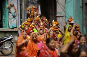 A procession through the streets of New Delhi