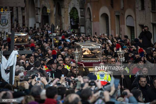Procession with the relics of Padre Pio and San Leopoldo for the Jubilee of Mercy