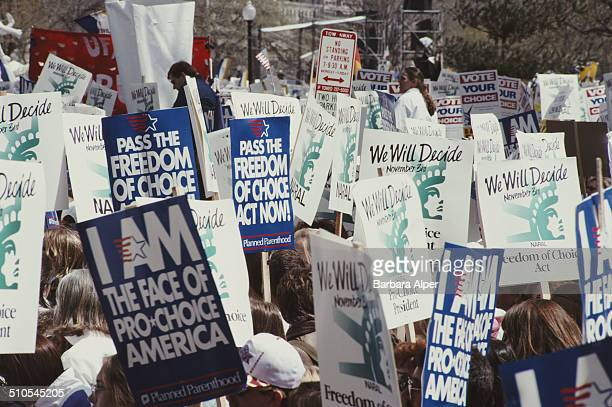 A prochoice rally in Washington DC prior to the Freedom of Choice Act 6th April 1992