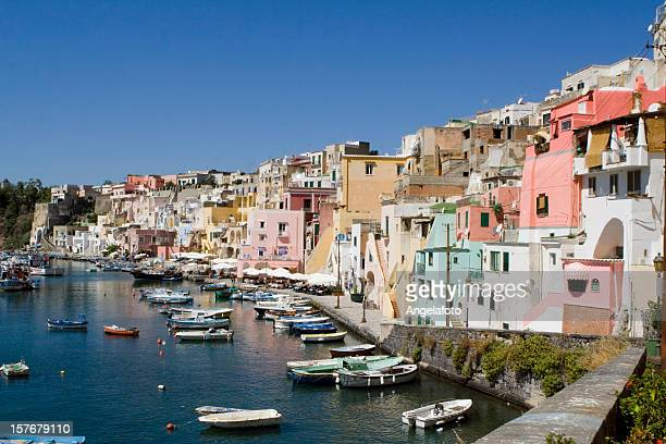 Procida, Fisherman's Village 'La Corricella', Bay of Naples, Italy