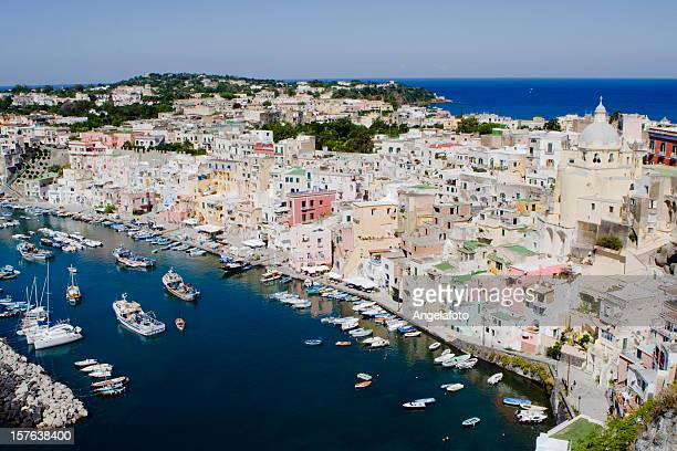 "Procida, Fisherman's Village ""La Corricella"", Bay of Naples, Italy"