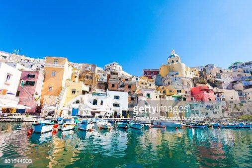 Procida, La Corricella colorful Harbour