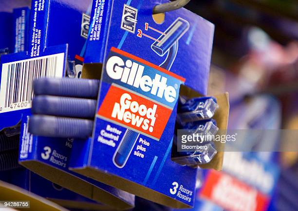 Procter Gamble Co's Gillette disposable razors are displayed at a supermarket in New York US on Friday Dec 11 2009 Procter Gamble Co the world's...