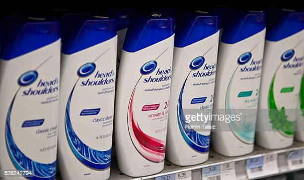Procter Gamble Head Shoulders brand shampoo products are on displayed on the shelf at a supermarket in New York City on Tuesday August 3 2010 PG is...