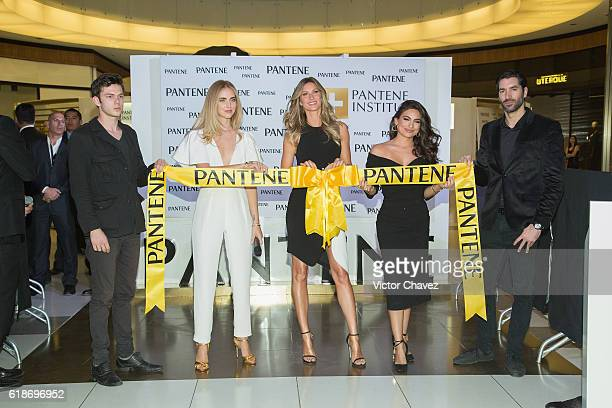 Procter Gamble Mexico Director Marcio Andreazzi Pantene ambassadress Chiara Ferragni Gisele Bundchen and Ana Brenda Contreras attend the Pantene...